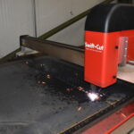 CNC Plasma Cutter Hard At Work