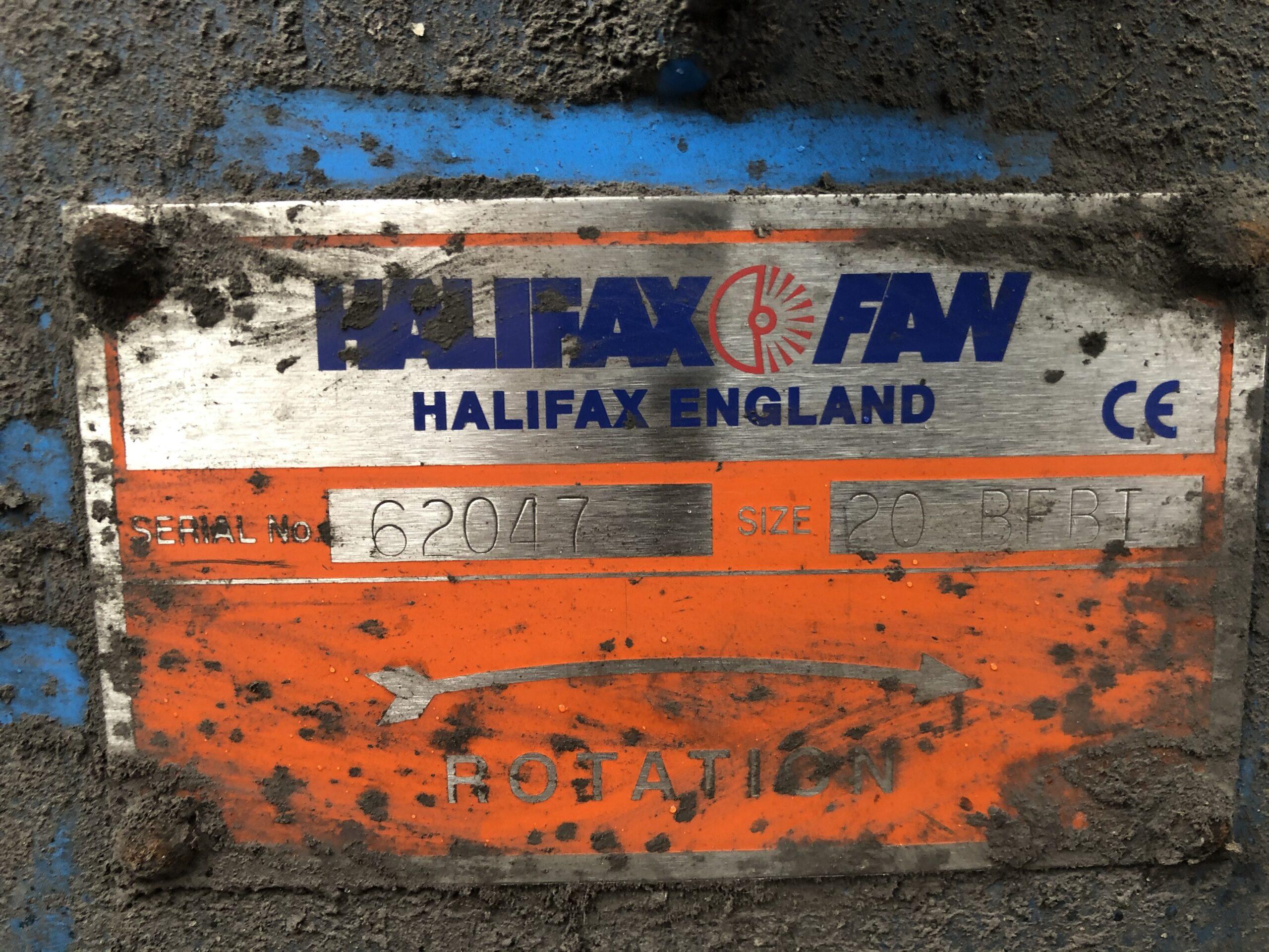 Halifax Fan ID Plate